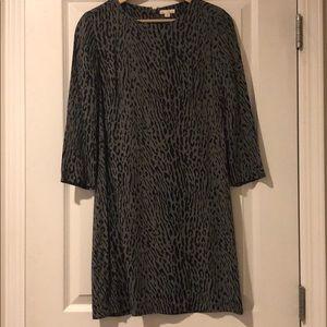 Gap animal print shift dress.
